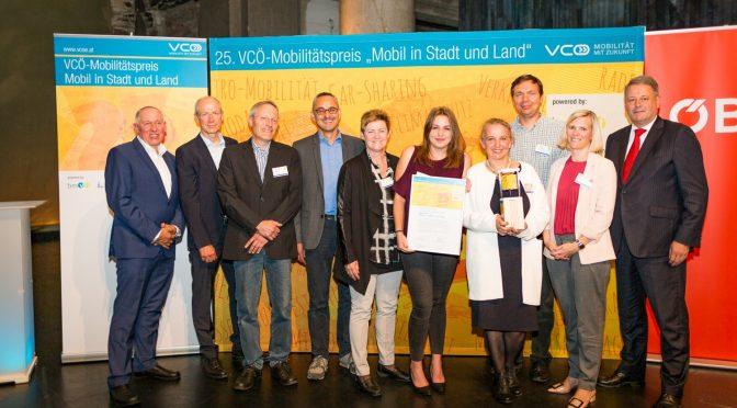 """Elternverein gewinnt den 25. VCÖ-Mobilitätspreis Österreich in der Kategorie """"Ideen, Konzepte & Initiativen"""""""