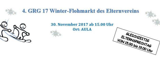 Winterflohmarkt am 30.11.2017 ab 15.00 Uhr